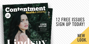 Get 12 Free Issues of Contentment Health delivered to your door.