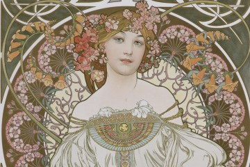 Mucha, Reverie, 1898, lithograph (variant 4)