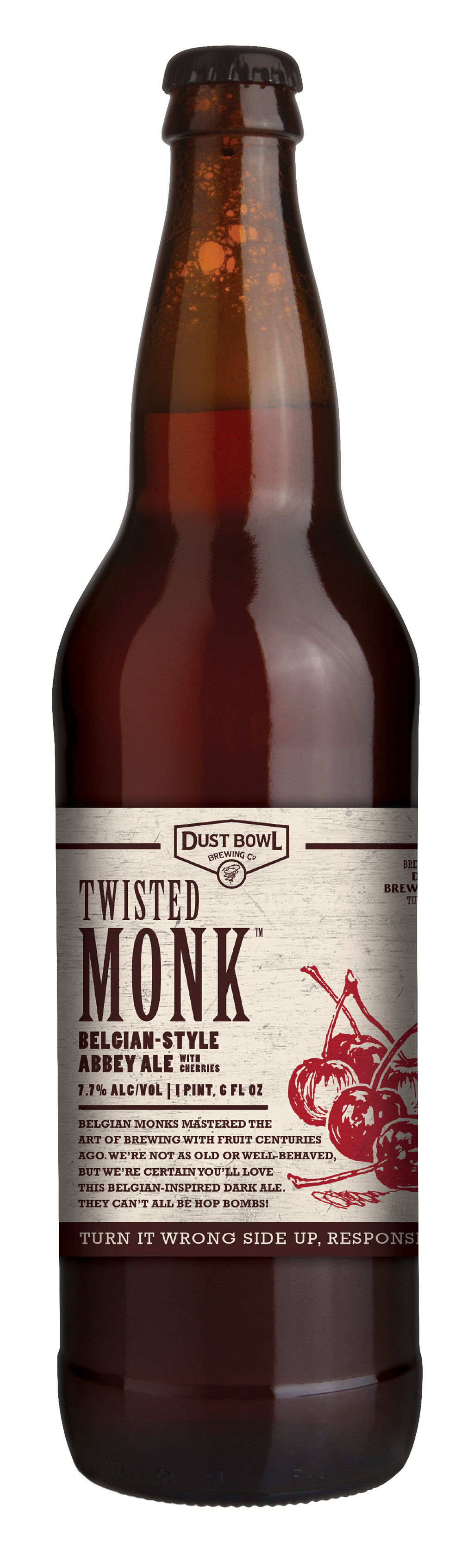 Twisted Monk Bottle by Dust Bowl Brewing Co.